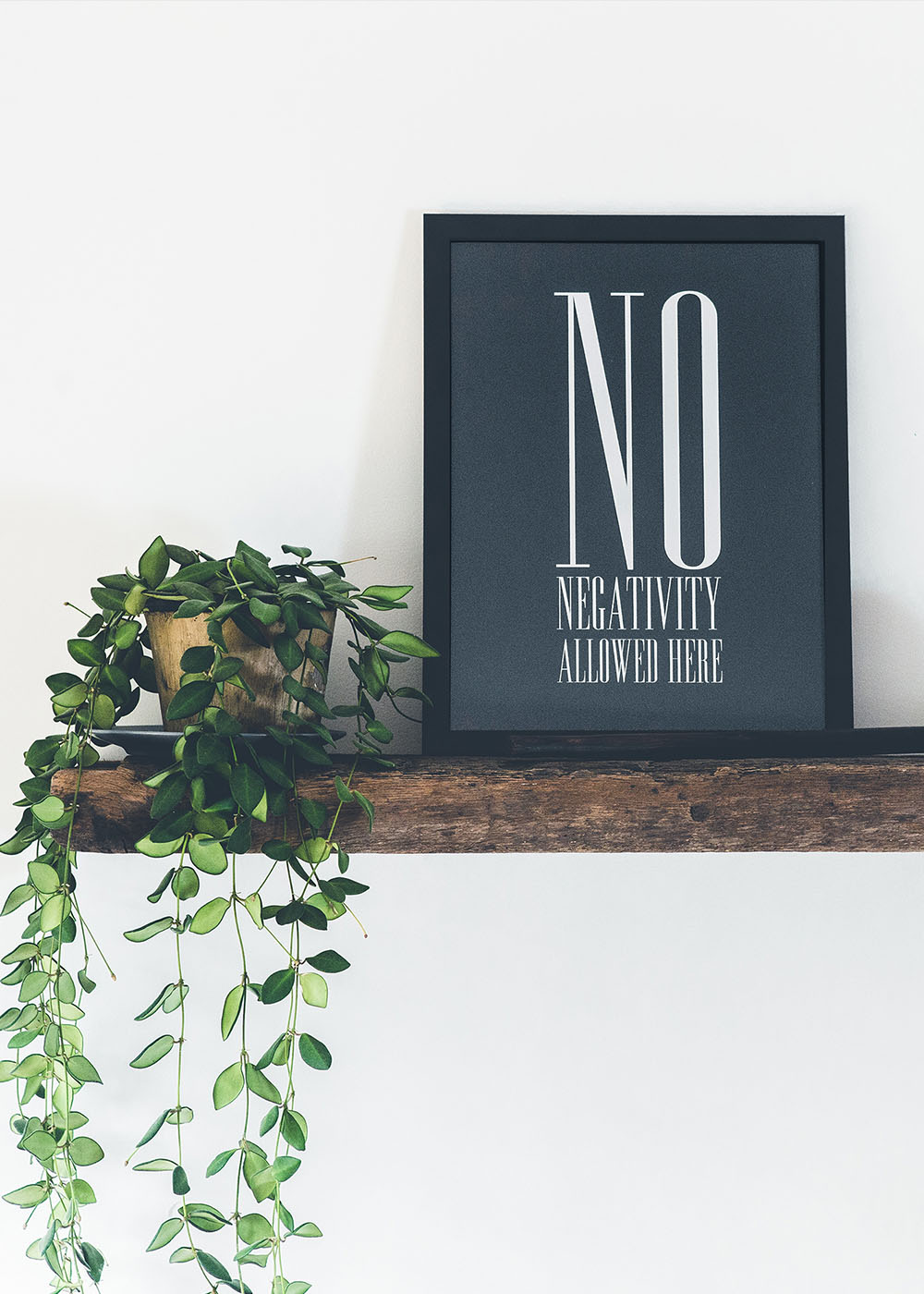 No Negativity Art Print